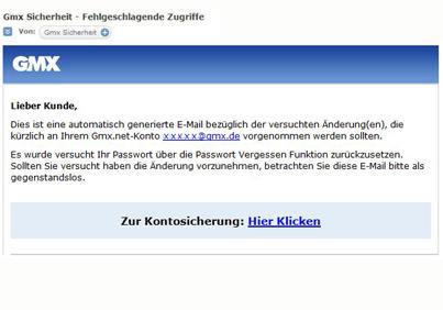 gmx de passwort vergessen