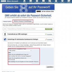 GMX Sicherheitsfrage: Wie der Käse-Mett-Igel Ihr E-Mail