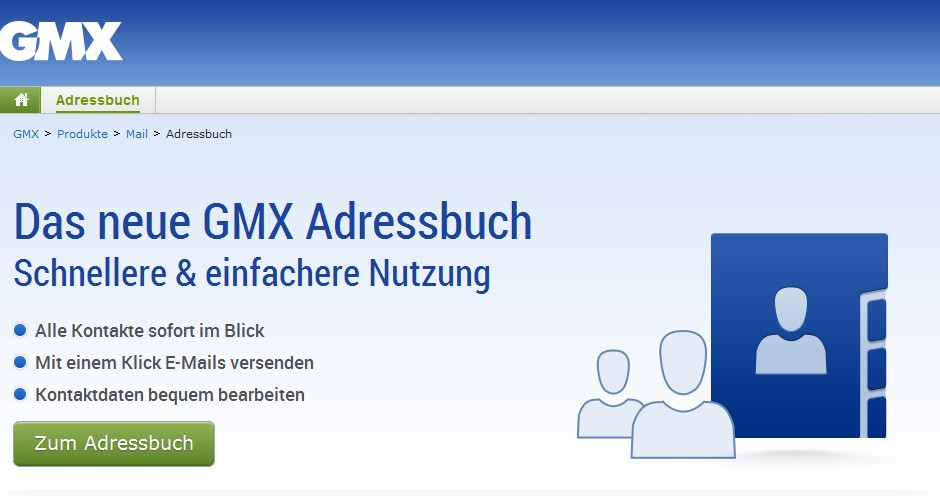 gmx adressbuch