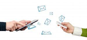 Mobile Kommunikation liegt im Trend: E-Mails werden zunehmend mobik verschickt und empfangen.