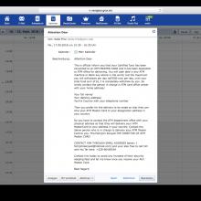 Beispiel für Kalenderspam. (c) Screenshot GMX