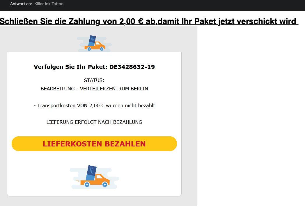 Spam-Versender setzen verstärkt auf Paket-Betrug. (c) GMX