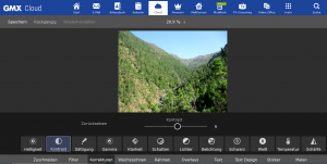 In der GMX Cloud am Desktop-PC lassen sich Fotos komfortabel bearbeiten. (c) GMX